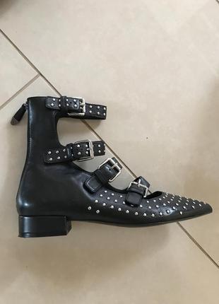 Туфли кожаные стильные модные дорогой бренд bruno premi размер 38
