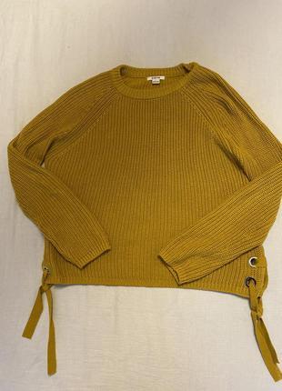 Яркий свитер ostin с завязками m(38)