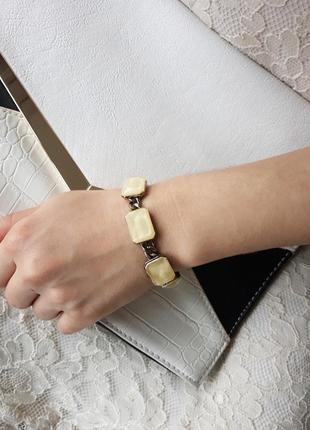 Шикарный стильный железный бронзовый браслет со вставками acce...