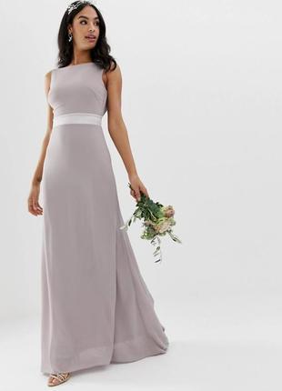 Шикарное вечернее, выпускное, свадебное платье в пол с открыто...