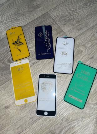 Стекло iPhone 5, 6s, 7, 8, x,Xs max, xr, 11, 11pro, 12,12 pro max