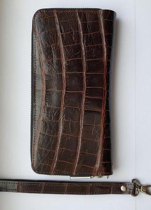 Портмоне из натуральной кожи крокодила