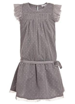 Нарядное платье тюль с блестками
