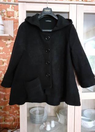 Изумительная шерстяная стильная куртка с одним карманом без по...