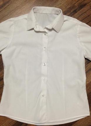 Рубашка,блуза george белая для девочки,7-8 лет,рост 122-128