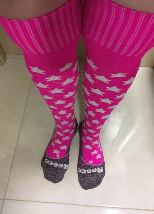 Супер ярко розовые красивые гольфы, гольфы .гетры , носки