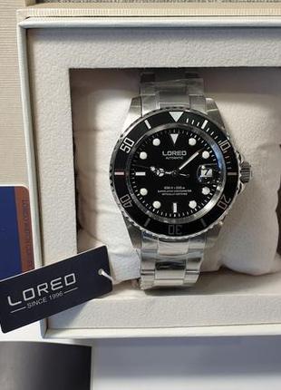 Мужские часы loreo 200m automatic sapphire новые