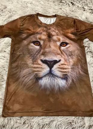 3D Футболка мужская лев