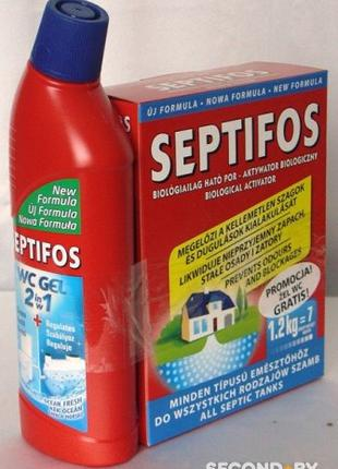 "БИОкомплект для выгребных ям ""Septifos 1.2kg"" + ""WC Гель"" 750мл."