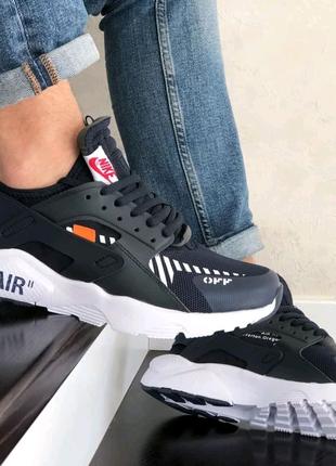 Мужские кроссовки Nike Air Huarache тёмно-синие