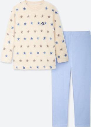 Теплые пижамки uniqlo для девочек