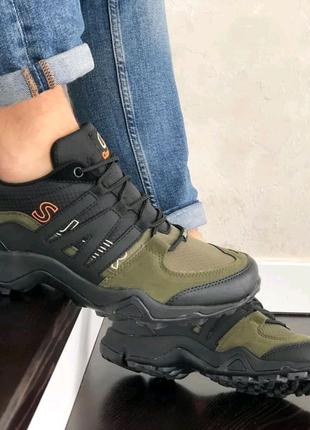 Мужские кроссовки Classica (41-46) зелёные с чёрным