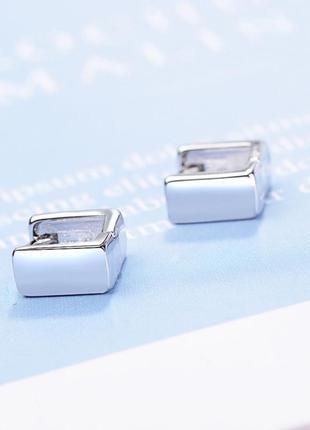 Мегастильные серебряные серьги s925 минимализм геометрия