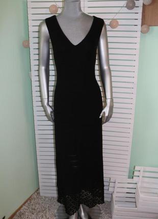 Длинное черное платье asos