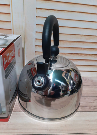 Чайник со свистком, двойное дно. 2,5 л.