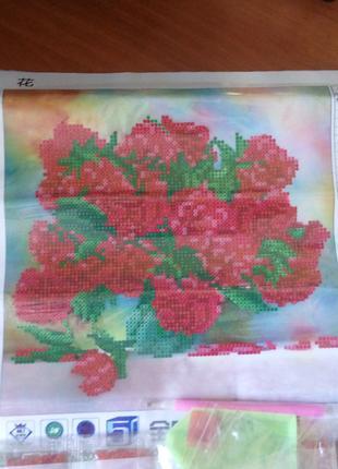 Алмазная вышивка,мозаика 5d, наборы,цветы, декор,подарок,хобби.