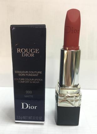 Помада «Rouge Dior» 999 Matte, 3.5 g