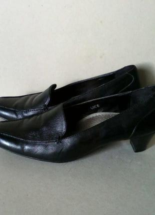 Туфли мешти кожа кожаные footglove черные на каблуке р. 6 или ...