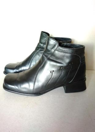 Удобные комфортные стильные кожаные ботиночки ботинки демисезо...