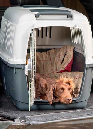 Авиа бокс IATA переноска клетка для собак №5, 81х60х61 + кормушка