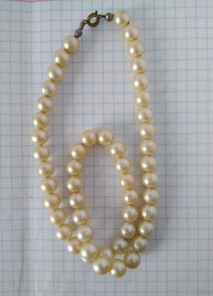 🌷 бусы бусики ожерелье жемчуг искуственный ретро винтаж ссср 4...
