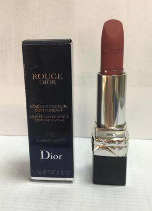 Помада «Rouge Dior» 772 Classic Matte, 3.5 g