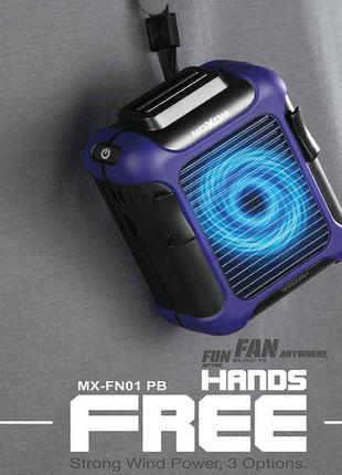 Вентилятор портативный 2в1 PowerBank MOXOM MX-FN01 черный