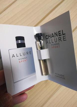 Туалетная вода одеколон allure homme sport от chanel ☕ объём 5мл