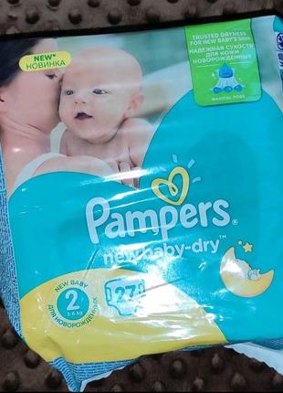 Памперси Pampers new baby dry 2