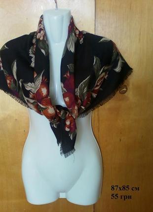 Платок хустка шаль шарф палантин косынка с узором с принтом эт...