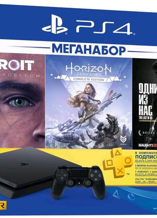 Консоль Sony PS4 Slim 1Tb Black