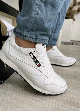 Мужские кроссовки кожаные весенние белые Emirro R17 White Edit