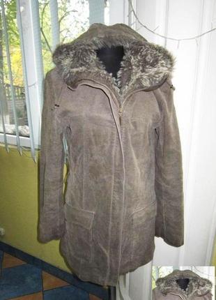 Женская кожаная куртка с капюшоном tcm. германия. лот 582