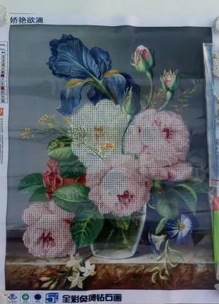 Алмазная вышивка,мозаика 5d, наборы,цветы, декор,,хобби,стиль