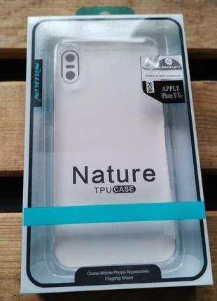 Силиконовый чехол Nillkin Nature для iPhone X