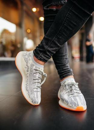 Крутые мужские кроссовки adidas yeezy boost 350 v3 grey, адида...