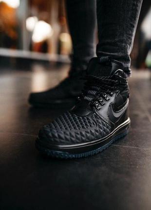 Nike duckboot 17 black, мужские осенние чёрные демисезонные кр...