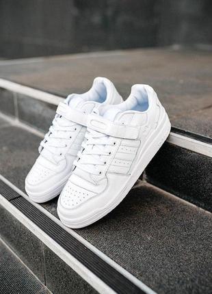 Мужские белые кроссовки адидас, adidas forum white.