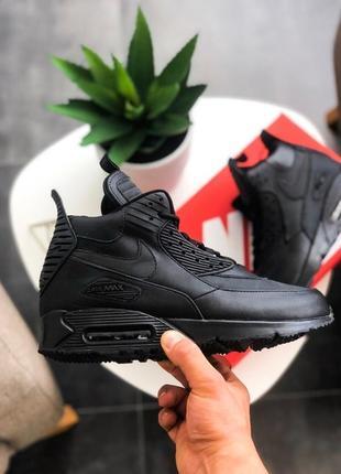 "❄️зимние кроссовки nike air max 90 sneakerboot ""black, мужские..."
