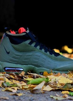 💎зимние💎мужские кроссовки найк nike air max sneakerboot 95 olive