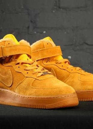 Nike air force high ❄️winter❄️, мужские зимние кожаные кроссов...