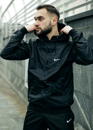 Ветровка мужская nike windrunner jacket черный м-9644