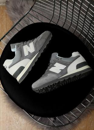 🌹женские кроссовки new balance 574 grey нью беленс, серые деми...