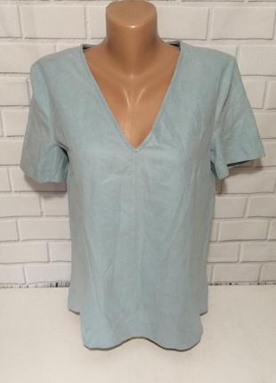 Блуза, футболка с молнией на спине zara