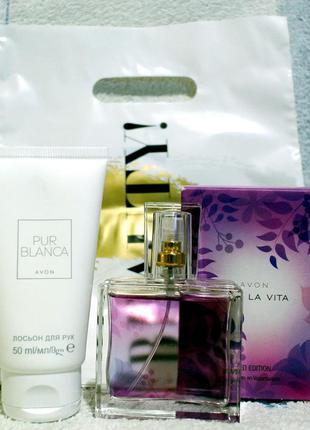 Набор: парфюмированная вода viva la vita, лосьон д/рук pur blanka