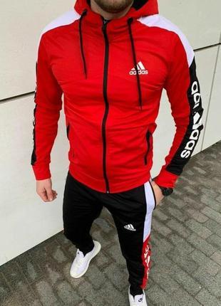 Спортивный костюм мужской adidas красный / комплект чоловічий ...