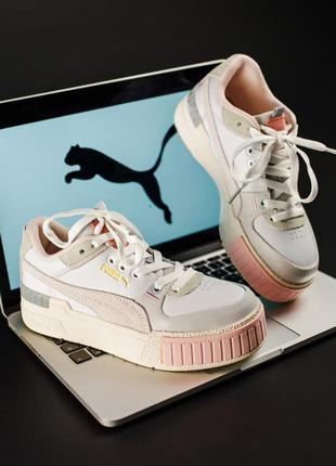 Puma cali sport mix white