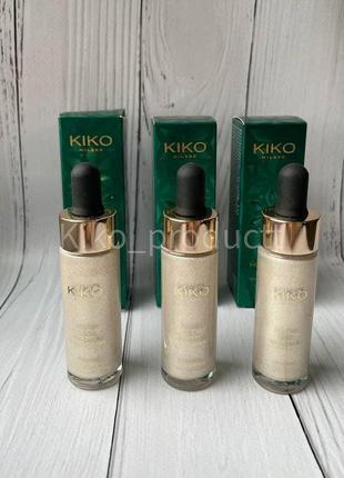 Блискучий рідкий хайлайтер для обличчя і тіла kiko holiday gem...