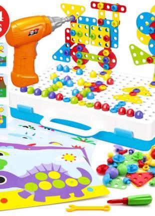 "Развивающий конструктор на 224 детали tu le hui ""puzzle peg""..."