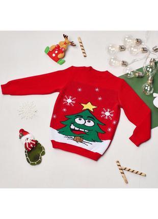 Новогодний детский свитер, свитер детский на рождество